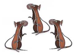 Henry Dupere Mice Garden  Sculptures