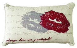 Faceplant Dreams Accent Pillows / Always Kiss Me Goodnight