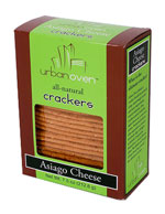 Urban Oven Crackers / Starr Ridge Crackers /  Asiago Cheese Crackers