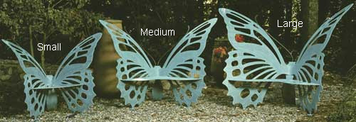 The Original Butterfly Garden Bench by Cricket Forge (Large)