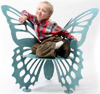 The Original  Child's Butterfly Garden Bench/Chair