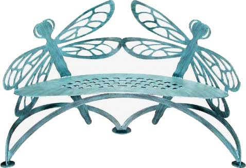 Dragonfly Garden Bench by Cricket Forge / Verdi