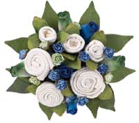 Baby Bunch Organic Baby Clothing Bouquet / Baby Clothing Gift Box Cornflower Blue