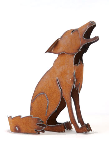 Henry Dupere Howling Coyote Garden Sculpture