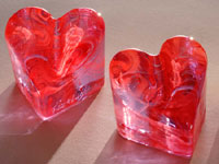 Fire & Light Glassware Limited Edition Hearts (Lavender with Red)