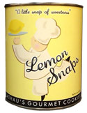 Lemon Snaps/Shortbread Cookies (1-Quart Paint Can)