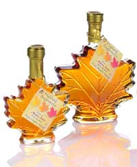 Pure Vermont Maple Syrup (Maple Leaf Bottle)