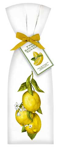 Mary Lake-Thompson Flour Sack Dish Towels -  Lemon Design (Set of 2)