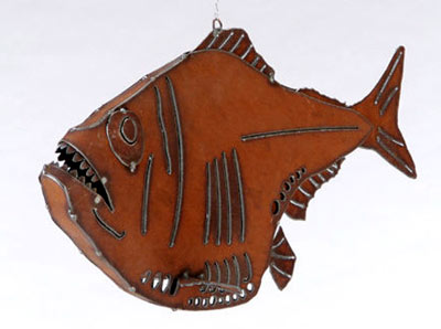 Henry Dupere Hatchet Fish  Garden Sculpture