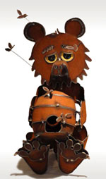 Henry Dupere Honey Bear with Bees Garden Sculpture