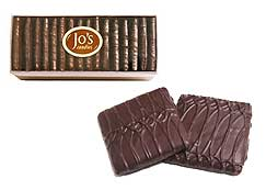 Jo's Candies Dark Chocolate Graham Crackers