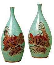 Rock Fish Cloisonne Vase