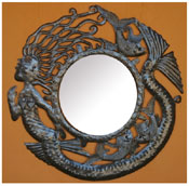Beyond Borders Wall Art / La Sirena Frame With Mirror