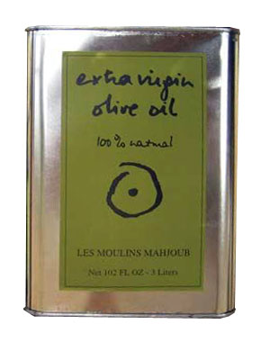Les Moulins Mahjoub Tunisian Extra Virgin Olive Oil 3 Liter Tin (Tunisia)
