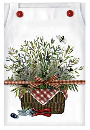 Mary Lake-Thompson Olive Basket Apron