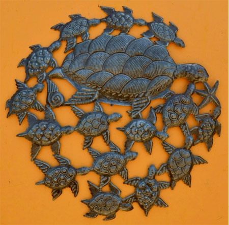 Beyond Borders Wall Art / Sea Turtle Swirl