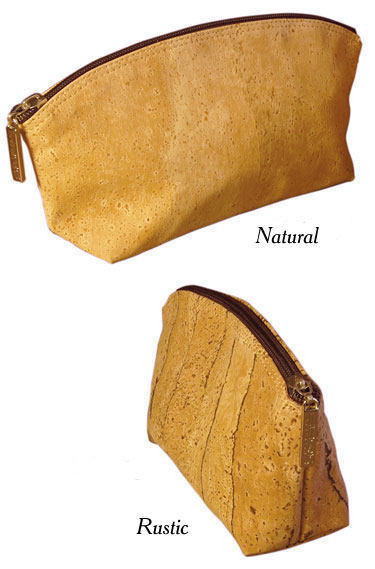 Cork Sela Cosmetic Bag / Natural or Rustic