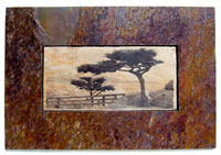 Sierra Slate Images Panoramic Two Cypress
