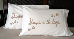 Faceplant Dreams Pillowcases - Sleeps with Dogs