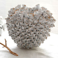 Hand-Crafted Round Barnacle Vase