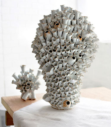Hand-Crafted Tall Barnacle Vase