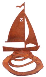 Sailboat / Spring Garden Sculpture