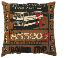 Koko CompanyTicket Accent Pillows / Brown