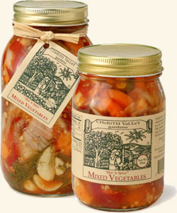 Cherith Valley Hot  &  Spicy Pickled Mixed Vegetables