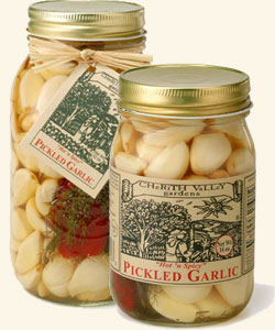 Cherith Valley Hot  &  Spicy Pickled Garlic