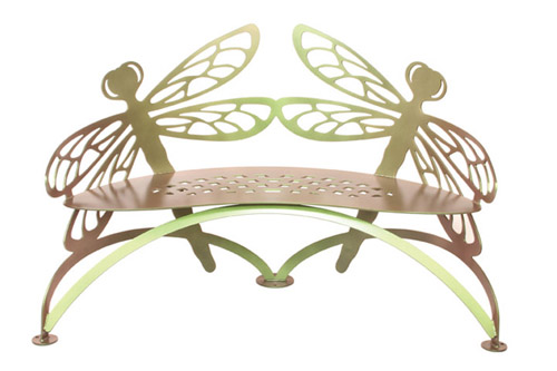 Dragonfly Garden Bench by Cricket Forge / Colorshift