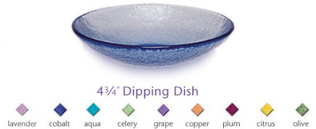 Fire & Light Glassware Dipping dish