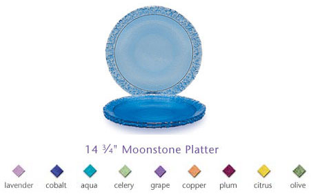Fire & Light Glassware Moonstone Serving Platter