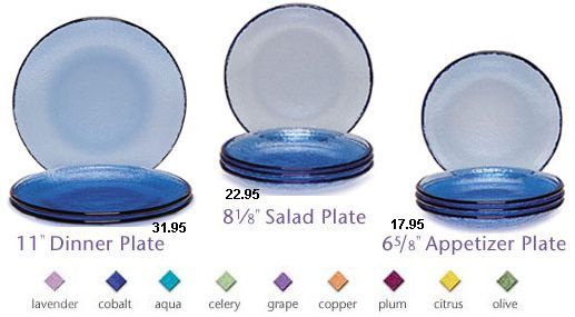 Fire & Light Glassware Plates