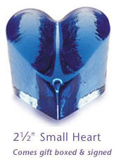 Fire & Light Glassware Small Hearts