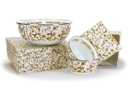 Enamel Popcorn Bowl Set (Set of 3)