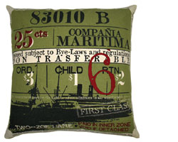 Koko Company Ticket Accent Pillows / Green