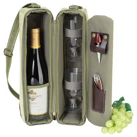 Picnic at Ascot  Hamptons Sunset  Wine Carrier