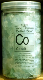 T. S. Pink Cobalt Bath & Spa Salts  / Crystals 40 oz.