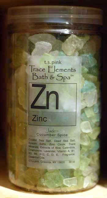 T. S. Pink  Zinc  Bath & Spa Salts/Crystals