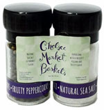 Sea Salt & Black Peppercorns / Mini Grinder Set