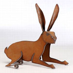 Henry Dupere Rabbit Garden Sculpture