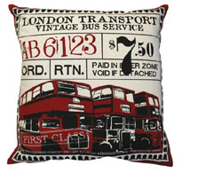 Koko Company TIcket Accent Pillows / Red
