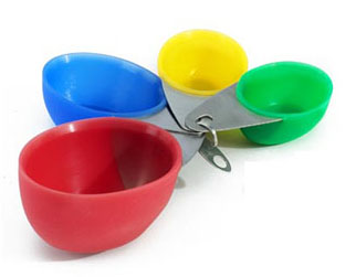 William Bounds Sili Gourmet Silicone Measuring Cups/Set of 4