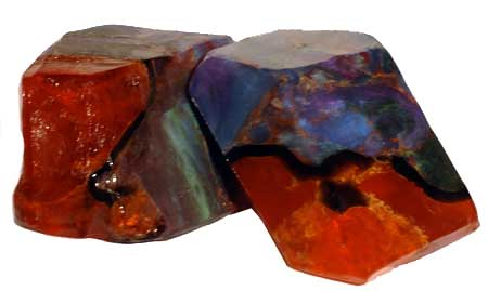 T. S. Pink Fire Opal Soap Rocks