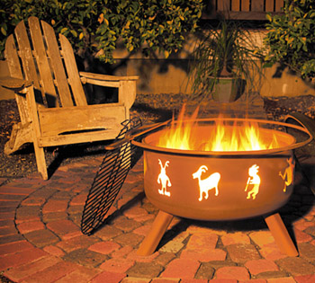 Original SoJoe Kokopelli Fire Pit/Barbecue