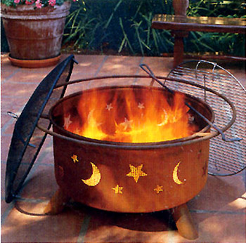 Original SoJoe Star & Moon Fire Pit/Barbecue