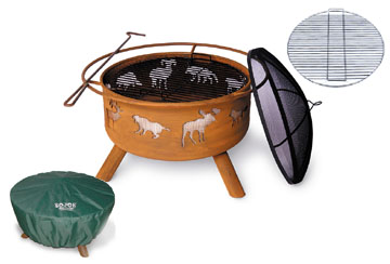 Original SoJoe Wildlife Fire Pit/Barbecue