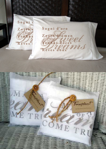 Faceplant Dreams - Sweet Dreams Pillowcases ( in 5 Languages )