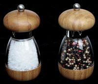 Mushroom Bamboo Salt and Pepper Mill Set